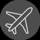 Icon Flugzeug_Weiss auf Grau_Zeichenfläche 1